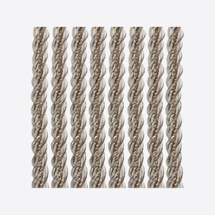 Kunststof draadgordijn Manacor bruin