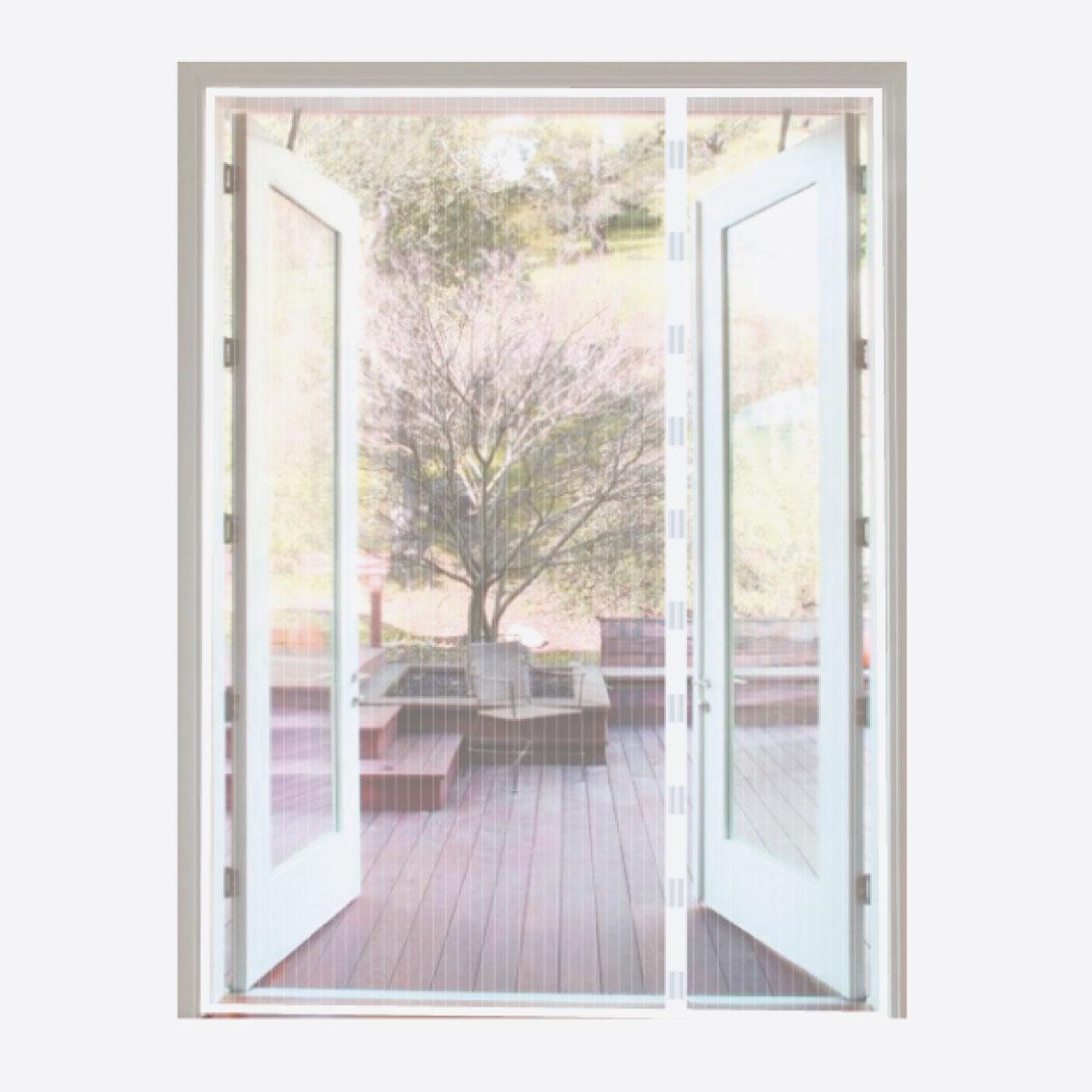 Magneet Vliegengordijn dubbele deur Wit