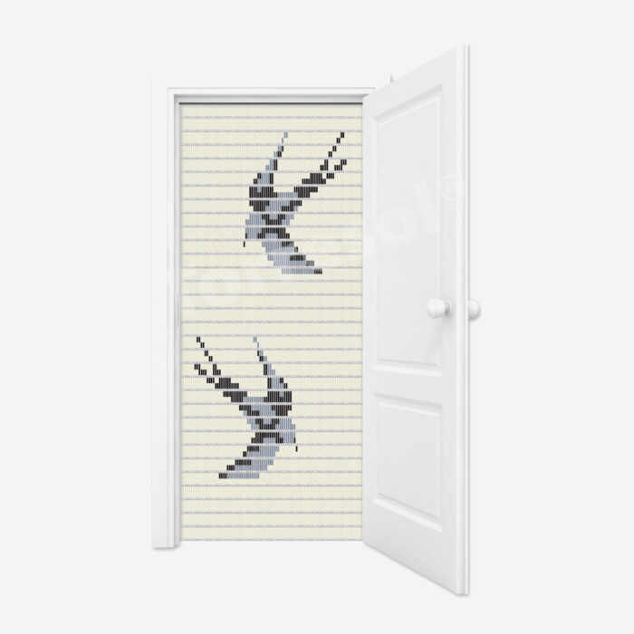 5101.-Vliegengordijn-Zwaluwen-crème