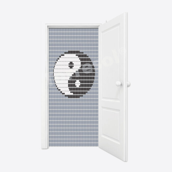 54. Vliegengordijn Yin Yang