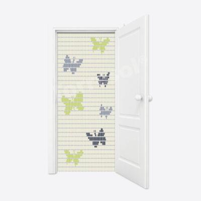 77. Vliegengordijn Vlinders