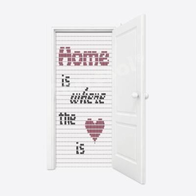 93. Vliegengordijn Home is where the heart is