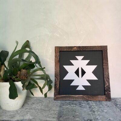 Aztec A black 30x30