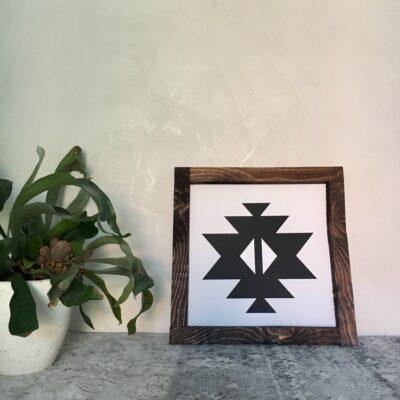 Aztec A white30x30