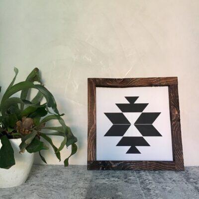 Aztec B white 30x30