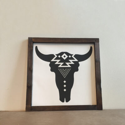 Wood Sign Cow 39x39