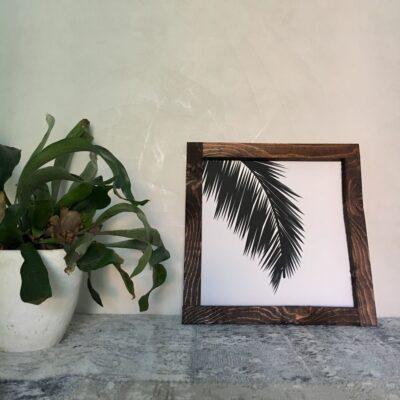 Palm leaf 30x30