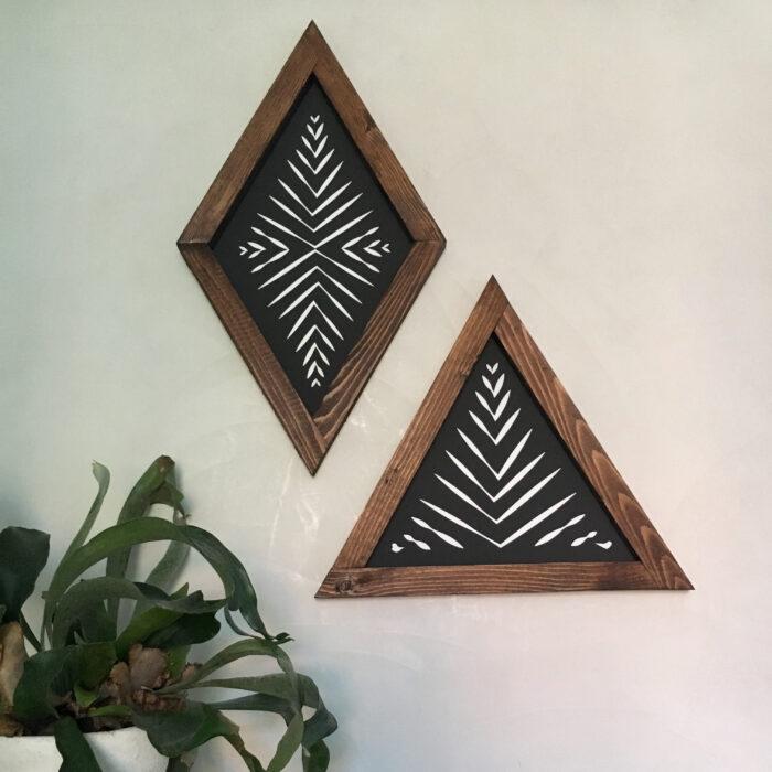 Zebra triangle + diamond black
